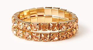 Glam Rhinestoned Bracelet Set